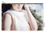 Pretty Young Fashion Model Carry-all Pouch