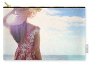 Pretty Young Woman Looking Out To Sea Carry-all Pouch