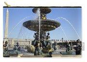 Public Fountain At The Place De La Concorde In Paris France Carry-all Pouch