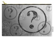 Question Mark Background Bw Carry-all Pouch