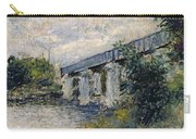 Railway Bridge At Argenteuil Carry-all Pouch