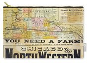 Railway Poster, 1870s Carry-all Pouch