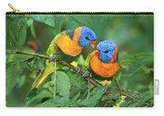 Rainbow Lorikeet Pair Carry-all Pouch