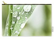 Raindrops On Grass Carry-all Pouch