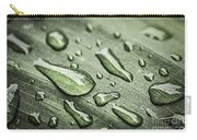 Raindrops On Leaf Carry-all Pouch by Elena Elisseeva