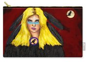 Raven Yellow Hair Carry-all Pouch