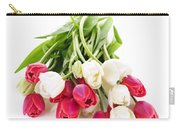 Red And White Tulips Carry-all Pouch by Elena Elisseeva