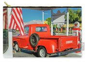 Red Dodge Pickup Truck Parked In Front Carry-all Pouch