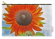 Red Face Sunflower At Olympia Carry-all Pouch