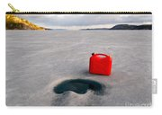 Red Jerrycan Lost On Frozen Lake Laberge Yukon T Carry-all Pouch