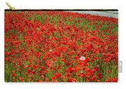 Red Poppy Field Near Highway Road Carry-all Pouch