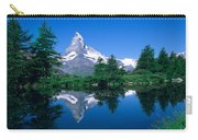 Reflection Of A Snow Covered Mountain Carry-all Pouch