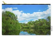 Reflection Of Trees And Clouds In South Carry-all Pouch