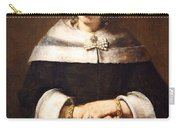 Rembrandt's Portrait Of A Lady With An Ostrich Feather Fan Carry-all Pouch