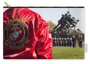 Retired Marine Paying Respect Carry-all Pouch