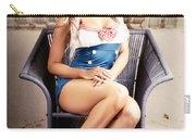 Retro Blond Beach Pinup Model With Elegant Look Carry-all Pouch