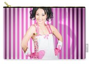 Retro Cleaning Service Maid With Smile Carry-all Pouch