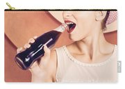 Retro Pin Up Pop Art. Soda Girl From 1950 Carry-all Pouch