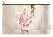 Retro Pin Up Woman Carrying Vintage Shopping Bag Carry-all Pouch