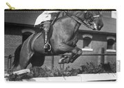 Rider Jumps At Horse Show Carry-all Pouch