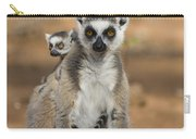 Ring-tailed Lemur And Baby Madagascar Carry-all Pouch