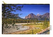 River And Mountains In Jasper Carry-all Pouch