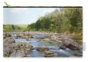 River Flowing Through Rocks, Black Carry-all Pouch