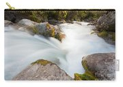 River Rapids Washing Over Rocks With Silky Look Carry-all Pouch