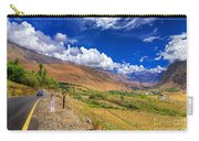 Road And Mountains Of Leh Ladakh Jammu And Kashmir India Carry-all Pouch