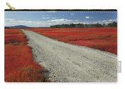 Road Through Autumn Blueberry Maine Carry-all Pouch by Scott Leslie