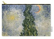 Road With Cypresses Carry-all Pouch by Vincent Van Gogh