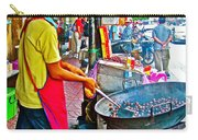 Roasting Chestnuts In China Town In Bangkok-thailand  Carry-all Pouch