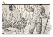 Robinson Crusoe And Friday Carry-all Pouch