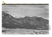 Rocky Mountains Flatirons And Longs Peak Panorama Boulder Carry-all Pouch