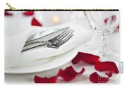 Romantic Dinner Setting With Rose Petals Carry-all Pouch by Elena Elisseeva