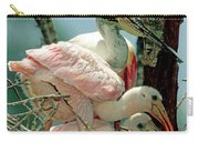 Roseate Spoonbill Adult With Young Carry-all Pouch