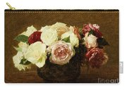 Roses Carry-all Pouch by Ignace Henri Jean Fantin-Latour
