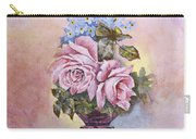 Roses In Ruby Vase Carry-all Pouch