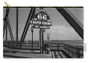 Route 66 - Chain Of Rocks Bridge And Gas Pump Carry-all Pouch