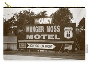 Route 66 - Munger Moss Motel Sign Carry-all Pouch