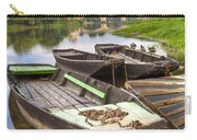 Rowboats On The French Canals Carry-all Pouch by Debra and Dave Vanderlaan