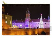 Royal Castle In Warsaw At Night Carry-all Pouch