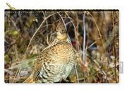 Ruffed Grouse On Drumming Log Carry-all Pouch