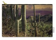 Saguaro Cactuses In Saguaro National Park Carry-all Pouch