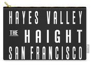 San Francisco City Subway Sign Carry-all Pouch