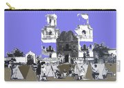 San Xavier Mission Sketched By Art Students C. 1930 Tucson Arizona Carry-all Pouch