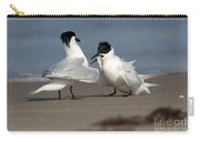 Sandwich Tern Bringing Fish To Its Mate Carry-all Pouch