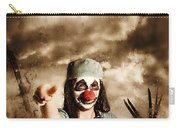 Scary Clown Doctor Throwing Knives Outdoors Carry-all Pouch