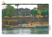 Scene Along Nile River Between Luxor And Qena-egypt  Carry-all Pouch