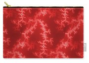 Seamless Fractal Red Carry-all Pouch